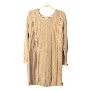 J. Jill Long Silk Wool Knit Sweater Dress Medium